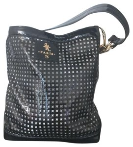 JPK Paris Bucket Patent Leather Perforated Hobo Bag