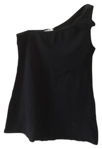 Zara One Shoulder Bow Top black