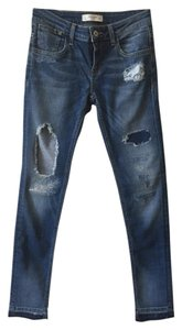Abercrombie & Fitch Distressed Vintage Skinny Jeans-Medium Wash