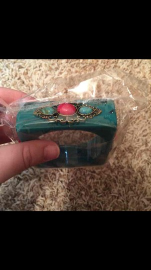 Boutique Chunky Turquoise Bangle