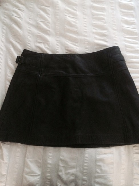 BCBGMAXAZRIA Skirt Black Leather