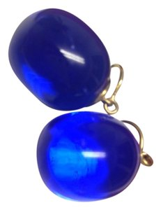 Baccarat Deep blue drop earrings
