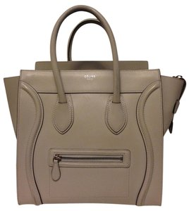 Cline Leather Tote in Pearl gray