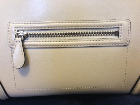 Céline Leather Tote in Pearl gray