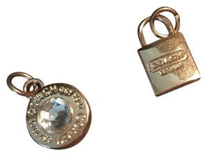 Coach Coach Round with clear stone Charm & Locket Charm