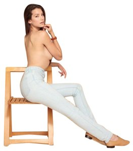 American Apparel Skinny Jeans-Light Wash