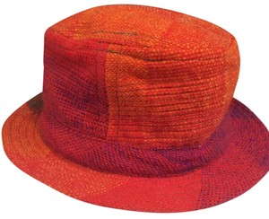 cleo made in Ireland wool rainbow fedora top hat vintage Cleo designer