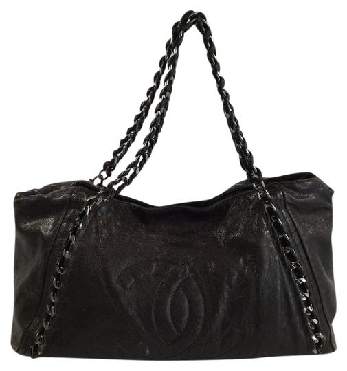 Chanel Classic Luxe Ligne Cc Tote in Dark Brown
