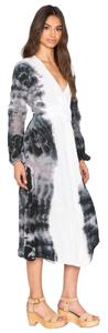White Blk Maxi Dress by Jen's Pirate Booty Boho Eclectic Tie Dye Wrap