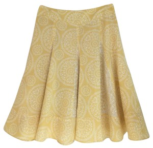 Ann Taylor LOFT Skirt Yellow/White