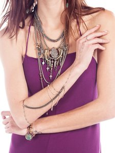Vanessa Mooney Vanessa mooney The Enchantress Silver Arm Piece bracelet necklace bracelet ring