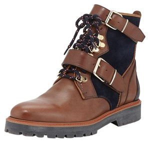 Burberry Utterback Lace-up Dark Umber Brown Boots