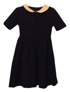 Zara short dress Navy Blue/ Cream on Tradesy