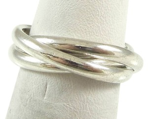 Sears Vintage 925 Sterling Silver Unique Stackable Design Ring Size 7(8)