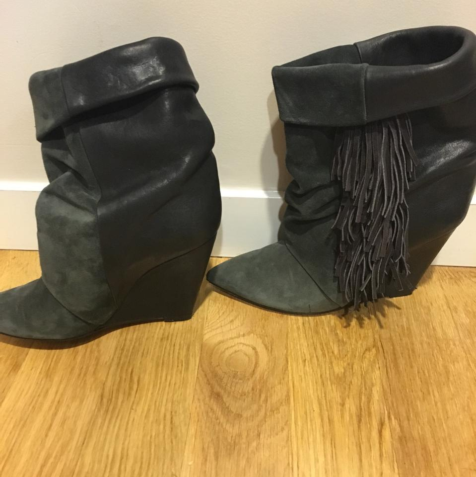 b425c11a24b Isabel Marant Anthracite Mony 2451530 Boots/Booties Size US 10 ...