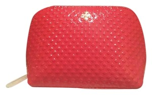 Tory Burch New!!! Marion Embossed Patent Cosmetic Bag- Goji color