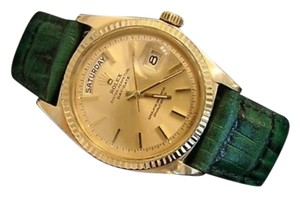 Rolex Mens Rolex Solid 18k Yellow Gold Day-date President Champagne Wgreen Band 1803