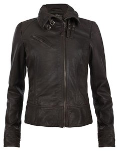 AllSaints Leather dark brown Leather Jacket