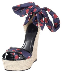 Gucci Carolina Satin 338686 Multi-Color Platforms