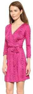 Diane von Furstenberg short dress GRAIN SHADOW PINK Dvf Wrap Silk Jersey Julian on Tradesy