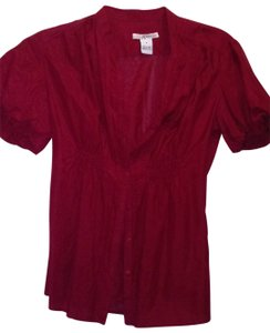 Kensie Button Down Shirt burgundy