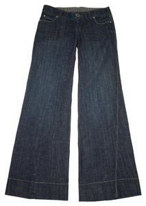 Anthropologie Newport Level 99 Trouser/Wide Leg Jeans-Medium Wash
