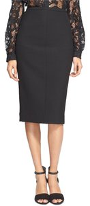 Diane von Furstenberg Dvf Pencil Knee Midi Skirt Black