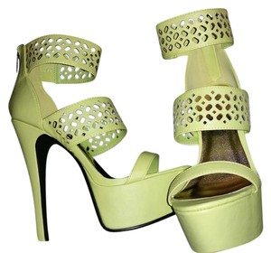 Rouge Helium Lime Green Platforms