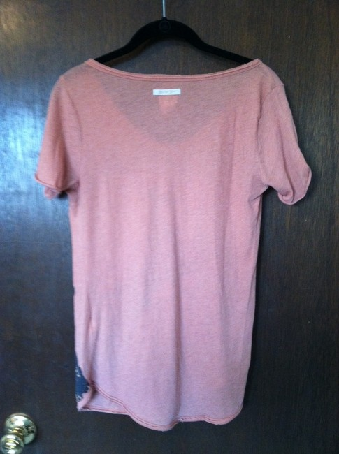 Lucky Brand Graphic Assymetrical T Shirt Dusty orange