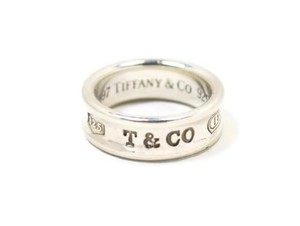 Tiffany & Co. Tiffany Co. 1837 Sterling Silver 7mm Wide Band Ring -