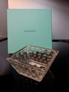 Tiffany & Co Woven Basket Square Bowl