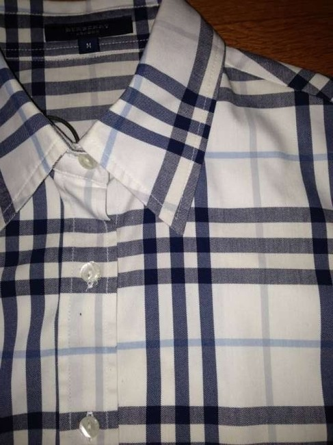 Burberry London Button-up Oxford Ladies Classic Nova Button Down Shirt Light Blue