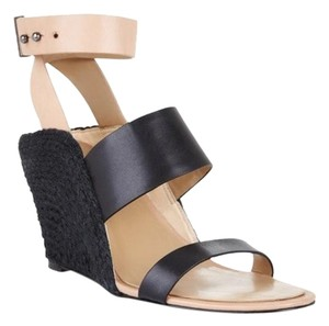 BCBGMAXAZRIA Black and tan Wedges