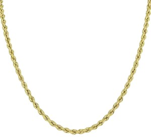 Solid Rope Necklace Mm Chain Real 10k Yellow Gold In Chain Mens Ladies Sale