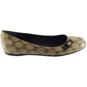 Gucci 317040 Crystal Canvas Gg Bow Tie Multi-Color Flats