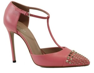 Gucci 370801 Studded Leather High Heels Pink Pumps