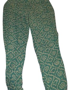 Wet Seal Baggy Pants teal and white