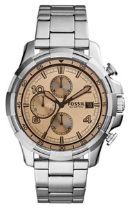 Fossil Fossil Men's Chronograph Dean Stainless Steel Bracelet Watch 45mm