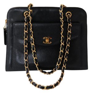 Chanel Vintage Vintage Caviar Front Pocket Shoulder Bag