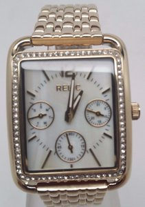 Relic Relic Zr15628 Womens Gold With Crystal Accents Visible Scratches
