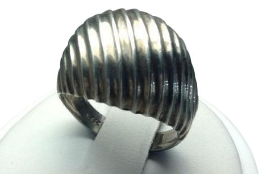 Everything Silver UNCAS Mfg Co Vintage Sterling Silver Ribbed Dome Ring 5.1g Size 7
