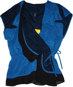 Fendi Drawstring Top Blue & Black