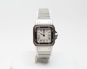 Cartier Silver Santos Watch