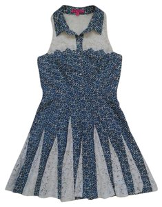 Betsey Johnson short dress Blue / White on Tradesy