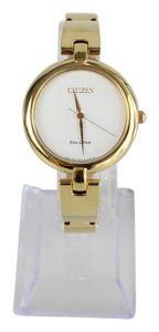 Citizen Citizen Eco-drive Silhouette Bangle Gold Tone Womens Watch