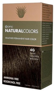 ONC Natural Colors 4G Dark Golden Brown Hair Dye with Organic Ingredients
