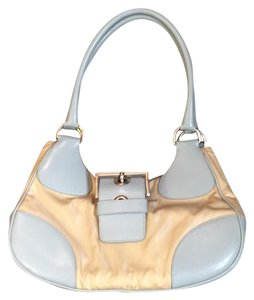 Prada Satchel in Cream & Baby Blue