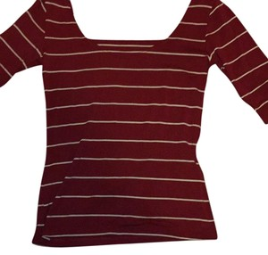 Wet Seal T Shirt Red and White