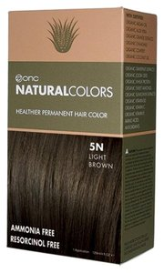 ONC Natural Colors 5N Natural Light Brown Hair Dye with Organic Ingredients
