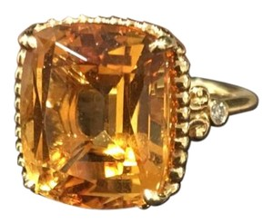 Tiffany & Co. Tiffany Sparklers Citrine Ring in 18K Gold with Diamonds